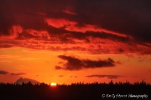 Sunset marble mountain