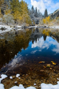 Merced River with Snow