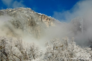 Yosemite Falls in Snow