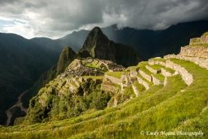 Machu Picchu Sunset Storm Peru