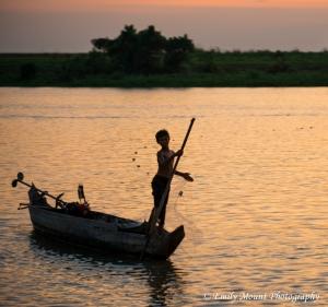 Tonle Sap River Sunset